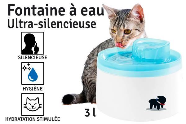 eau pour chat ultra silencieuse
