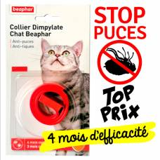 Collier anti-puce Dimpylate rouge