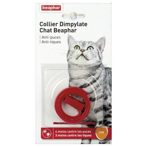 collier anti puce dimpylate rouge pour chat beaphar auberdog. Black Bedroom Furniture Sets. Home Design Ideas