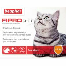 Pipette anti-tique et anti-puce Fiprotec chat