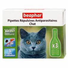 Pipettes répulsives antiparasitaires Veto Nature chat
