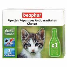 Pipettes répulsives antiparasitaires Veto Nature chaton