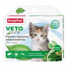 Pipettes répulsives antiparasitaires Vetopure chaton
