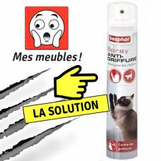 Spray anti-griffure pour chat