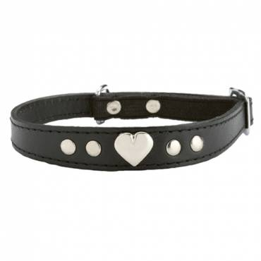 Collier chat Amour noir pour chat - Bobby