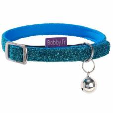 Collier chat Disco bleu