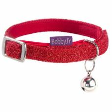 Collier chat Disco rouge