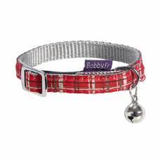 Collier chat Kilt rouge