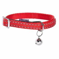 Collier chat Safe rouge