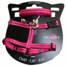 Kit harnais + laisse chat Safe rose