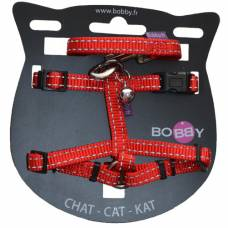 Kit harnais + laisse chat Safe rouge