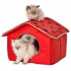 Maison chat Royal rouge