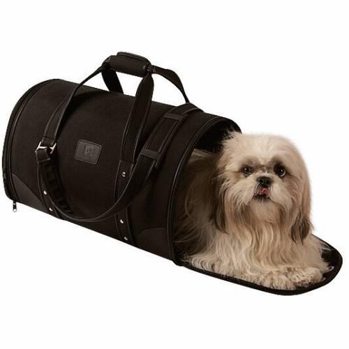 sac de transport parisien noir pour chien bobby auberdog. Black Bedroom Furniture Sets. Home Design Ideas