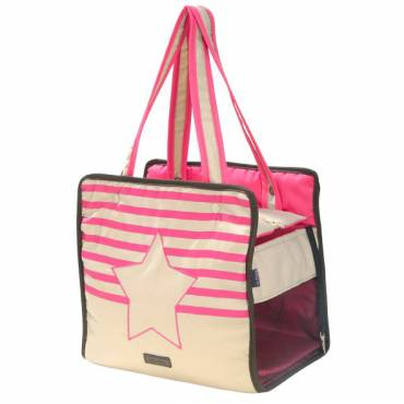 Sac Riviera rose pour chien - Bobby