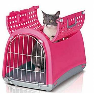 cage transport linus cabrio rose pour chat difac auberdog. Black Bedroom Furniture Sets. Home Design Ideas