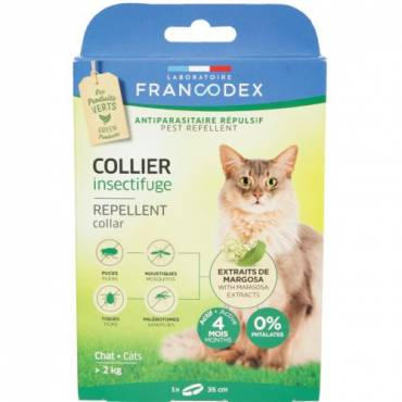 collier insectifuge chat pour chat francodex auberdog. Black Bedroom Furniture Sets. Home Design Ideas
