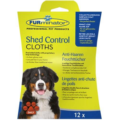 lingettes furminator anti chute de poils pour chien pour chien furminator auberdog. Black Bedroom Furniture Sets. Home Design Ideas