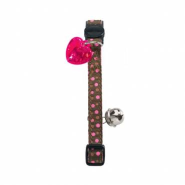 Collier chat Dots rose pour chat - Hunter