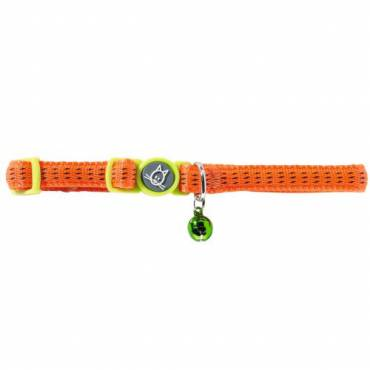 Collier Turin orange pour chat - Hunter