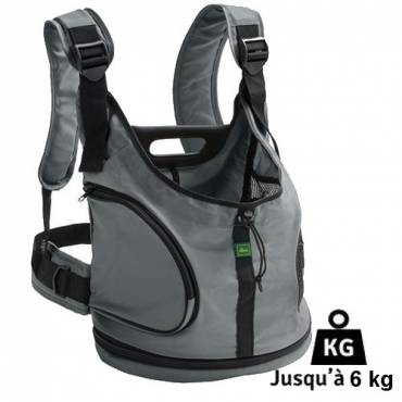 Sac à dos ou sac ventral Kangaroo gris pour chat - Hunter - Transport du chat