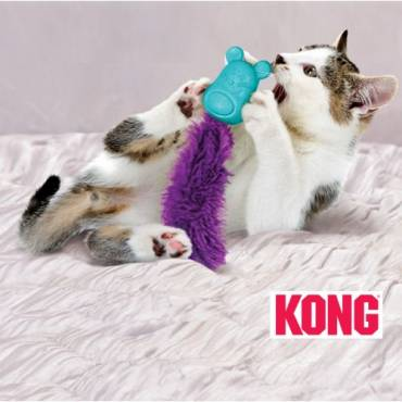 Jouet chat Kong Infused Bobble mouse  pour chat - Kong - Herbe à chat, valériane, menthe