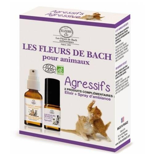 Coffret Fleurs De Bach Animaux Agressifs Pour Chat Les Fleurs De