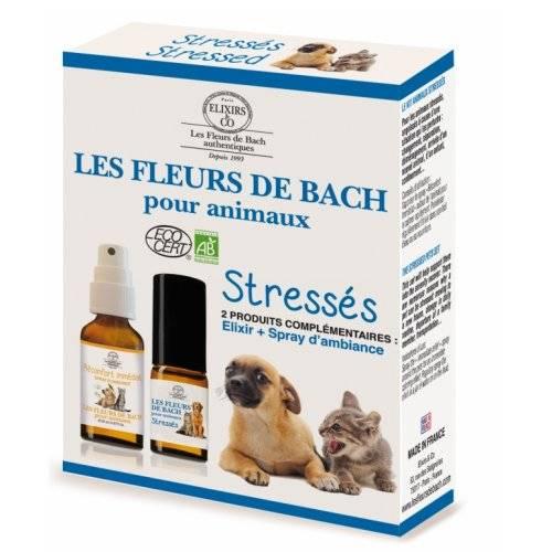 Coffret programme fleurs de Bach animaux stressés
