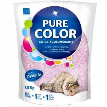 Litière Pure Color rose pour chat - 2