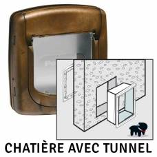 Chatière de luxe Staywell brun - 4 positions