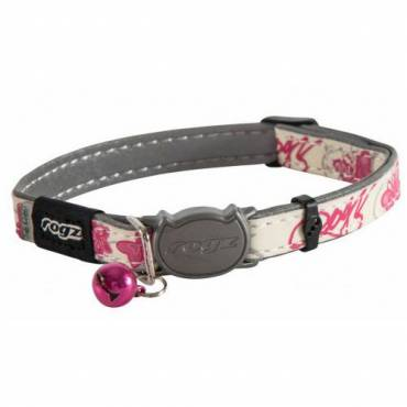 Collier GlowCat rose pour chat - Rogz