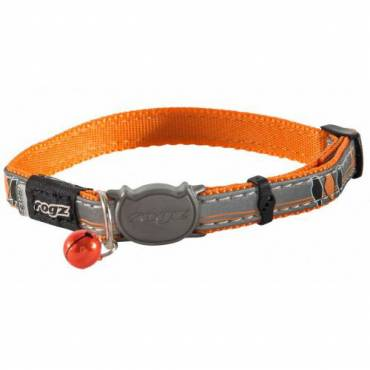 Collier NightCat orange pour chat - Rogz