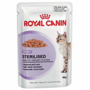 Sterilised en sauce pour chat - Royal Canin