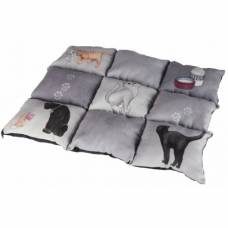 Couverture chat Patchwork gris