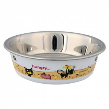 Gamelle Hungry blanc pour chat - Trixie