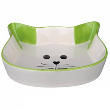 Gamelle visage Chat vert pour chat - Trixie