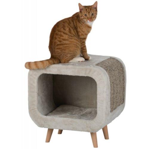 Griffoir abri chat alicia gris