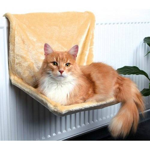 hamac radiateur beige pour chat trixie auberdog. Black Bedroom Furniture Sets. Home Design Ideas