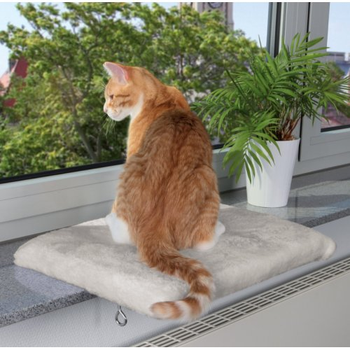 hamac rebord fen tre gris clair pour chat trixie auberdog. Black Bedroom Furniture Sets. Home Design Ideas