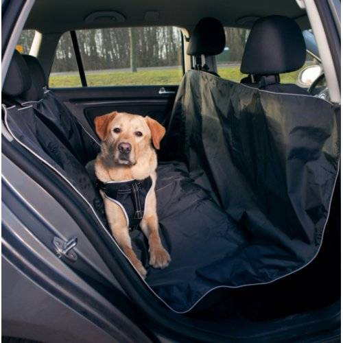 Housse protection si ge voiture polyester noir pour chat for Housse sieges voiture