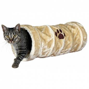 Tunnel Crunch peluche beige pour chat - Trixie