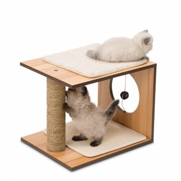 Griffoir V-Stool Walnut pour chat - 2