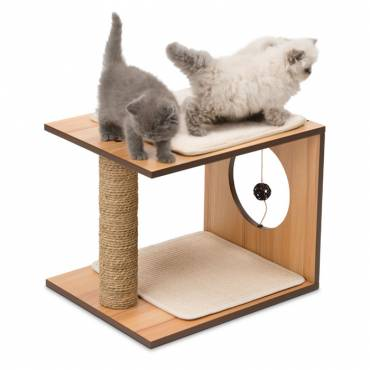 Griffoir V-Stool Walnut pour chat - Vesper - Arbre à chat et griffoir