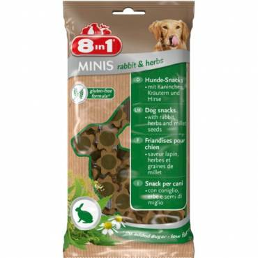 Minis Lapin et Herbe pour chien - 8 in 1
