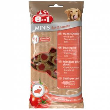 Minis Poisson Tomate pour chien - 8 in 1