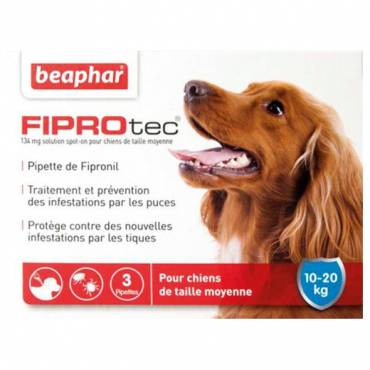 pipette anti tique et anti puce fiprotec chien moyen pour chien beaphar a. Black Bedroom Furniture Sets. Home Design Ideas