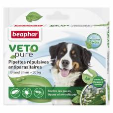 Pipettes répulsives antiparasitaires Veto Pure grand chien