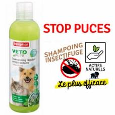Shampoing répulsif antiparasitaire