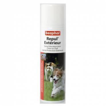Spray repul 39 ext rieur chien et chat pour chat beaphar for Repulsif pour chat exterieur gratuit