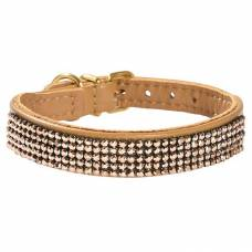 Collier chien Crystal Princesse camel