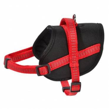 Harnais Easy rouge pour chien - Bobby